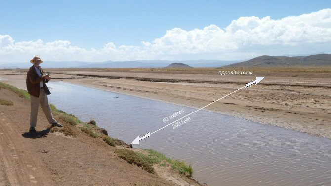 ground view giant canal near Oruro