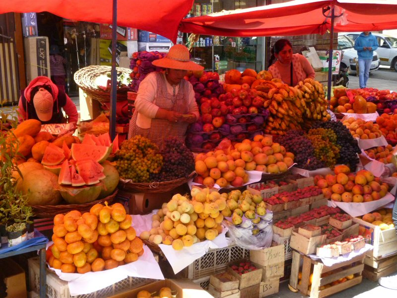 Oruro fruit market