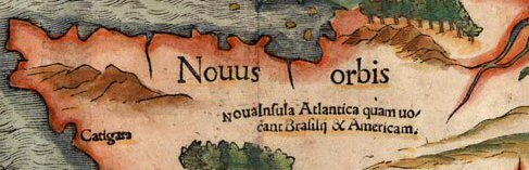 detail of sebastian muller map of atlantis insula