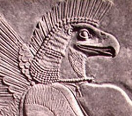 Assyrian eagle mask headdress