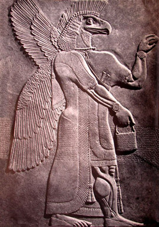 Assyrian eagle mask god