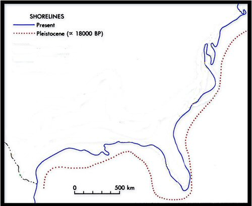Louisiana ice age shoreline
