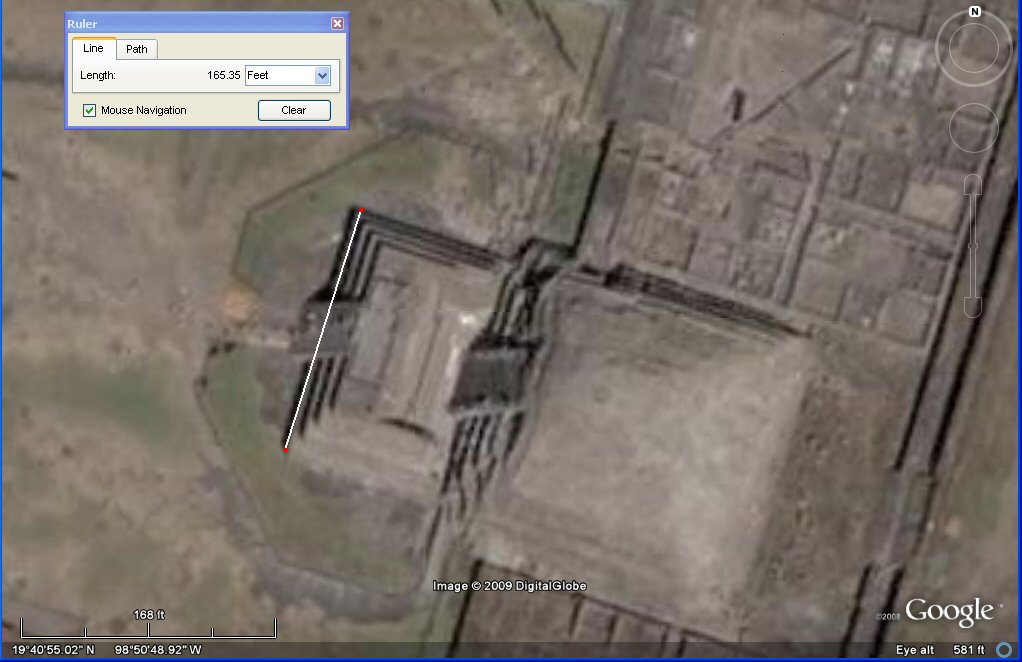 satellite photo of the citadel, with 100 Sumerian feet