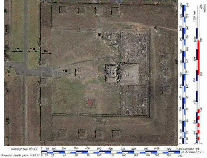 satellite photo of the citadel, with Sumerian feet