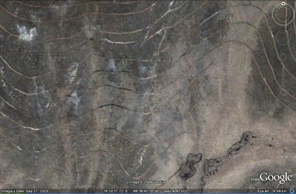 contour geoglyphs Peru side of Altiplano
