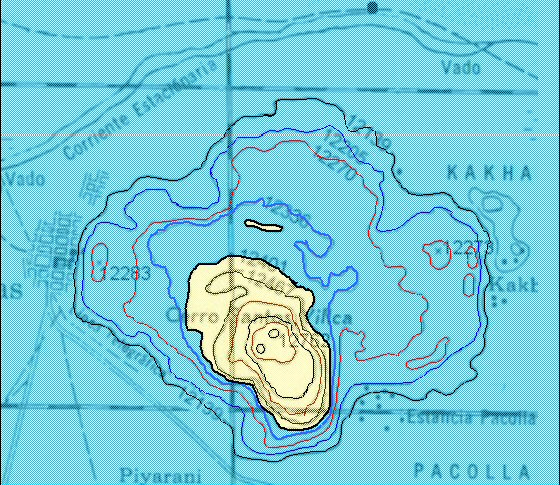 contour map pampa aullagas paleolake tauca highstand