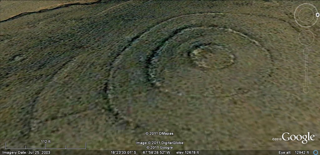 concentric ringed hilltop south of Turco